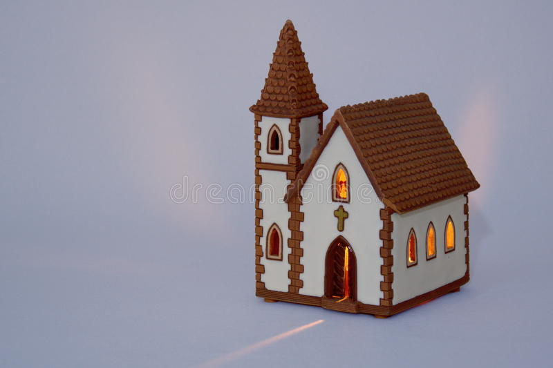 Miniature ceramic church royalty free stock image