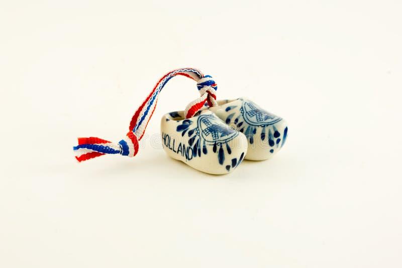 Miniature Ceramic Dutch Clogs Royalty Free Stock Photos