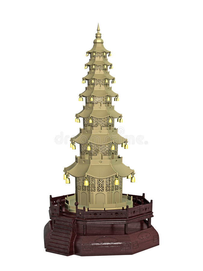 Miniature Chinese temple