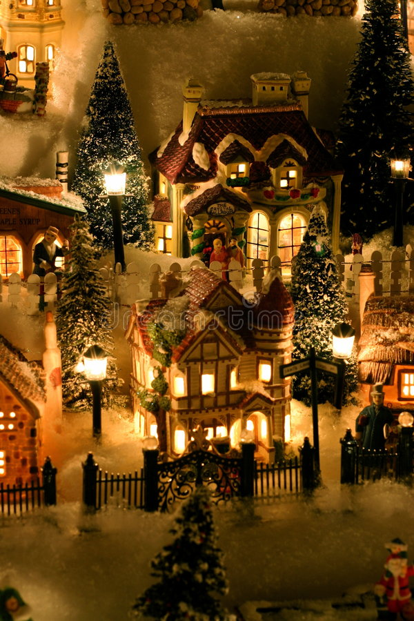Miniature Christmas Village. Christmas village in miniature