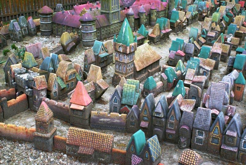Miniature city. Old Kenigsberg stock photos