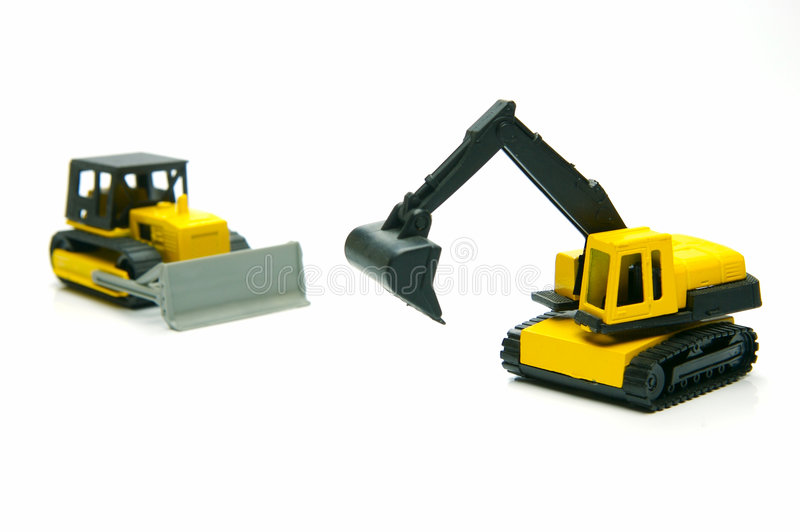 Miniature Construction Toys royalty free stock photography