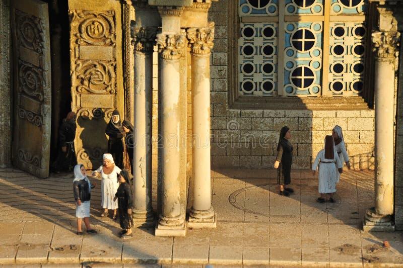 Miniature de Gethsemane et église de toutes les nations image libre de droits