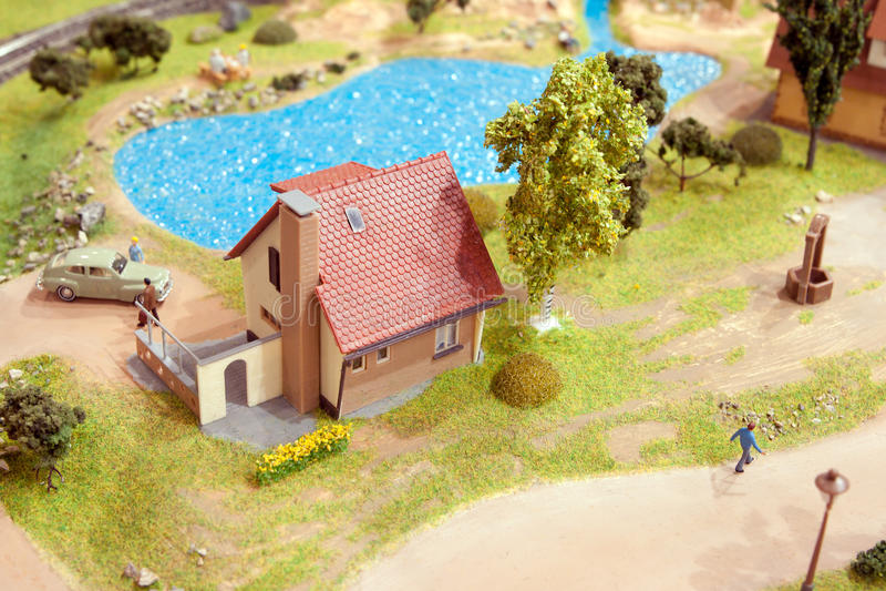 Miniature de village photo stock