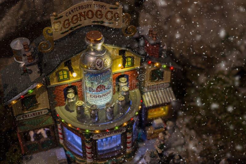 Miniature de village de Noël photographie stock libre de droits