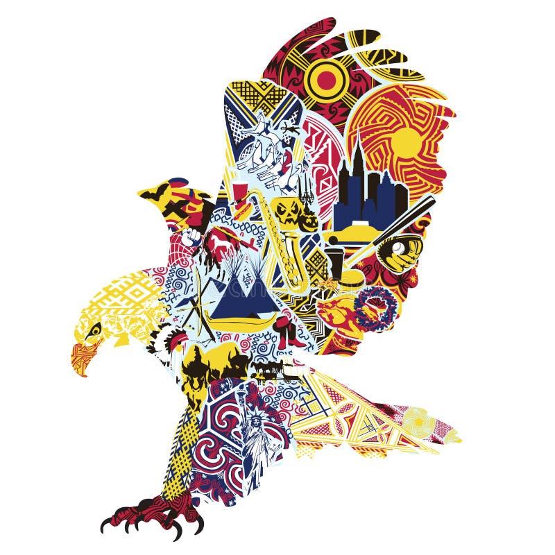 Miniature di Eagle che simbolizzano l'America illustrazione vettoriale