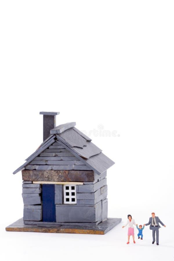 miniature för 02 hus fotografering för bildbyråer
