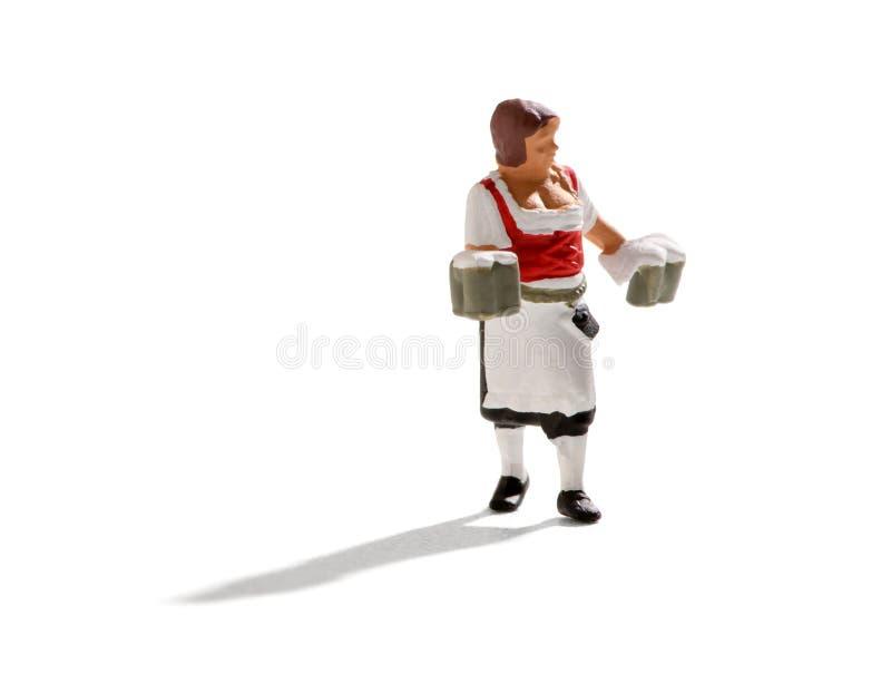 Miniature figure of a waiter at Oktoberfest stock photography