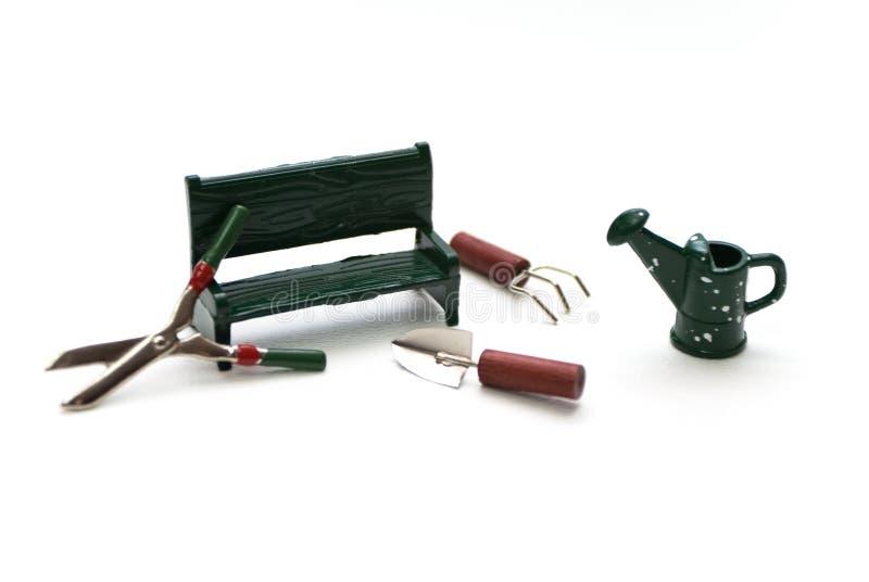 Miniature Garden Tools royalty free stock image