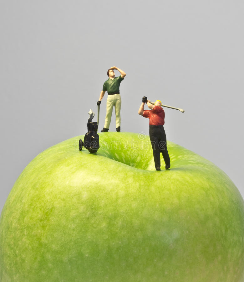 Download Miniature golf on apple stock photo. Image of drive, club - 24446104