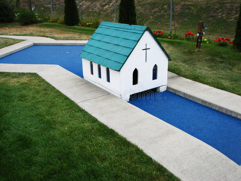 Download Miniature Golf Church Hole stock image. Image of golf - 8715831