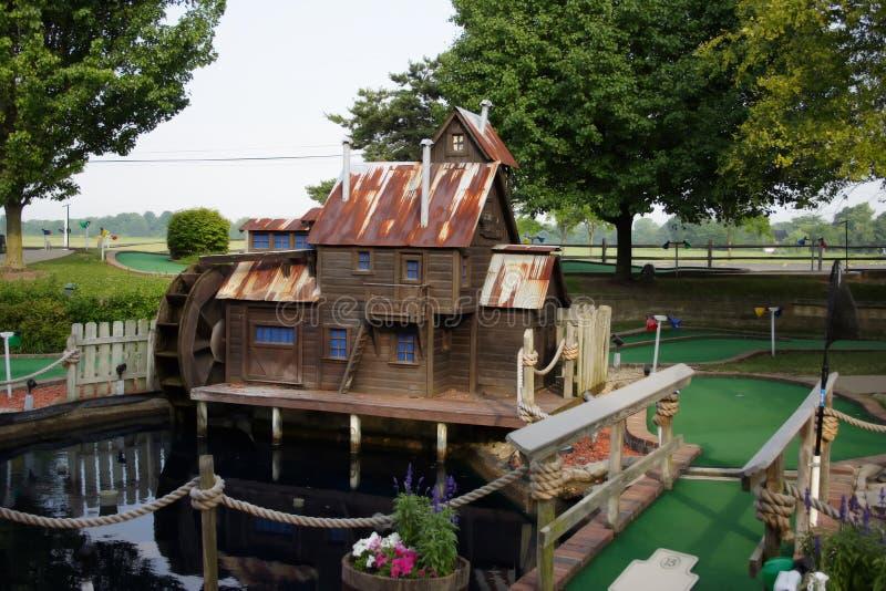 Download Miniature golf hole stock image. Image of shoot, brick - 916215