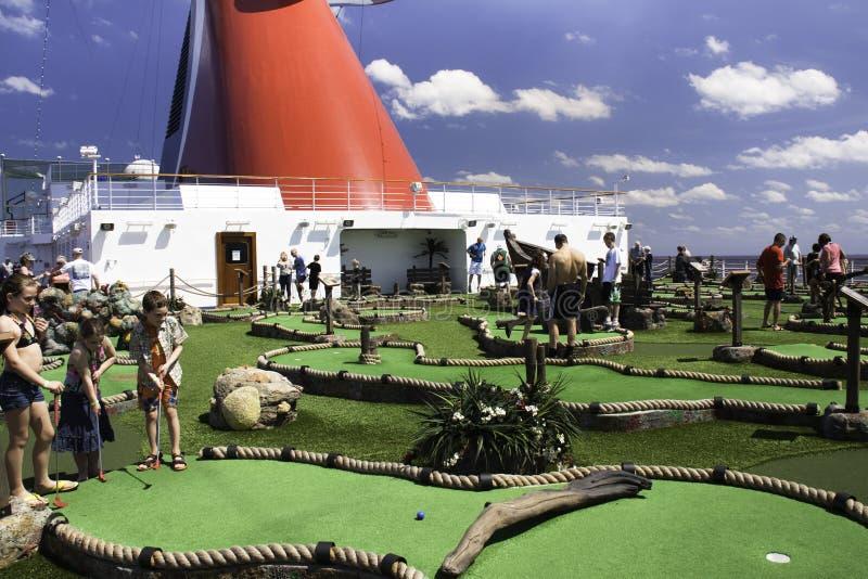 Miniature Golf At Sea Editorial Photo