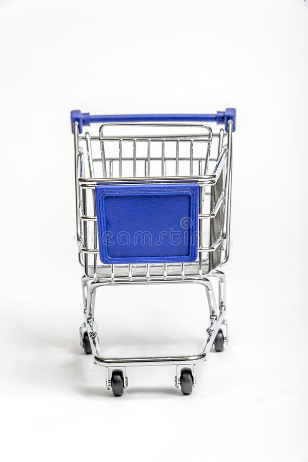 Download Miniature Grocery Cart With Blank Sign Area On Front Stock Photo - Image: 29519586