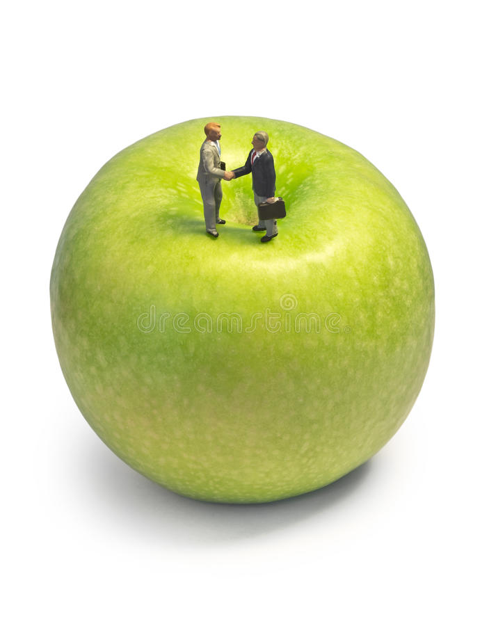 Download Miniature Handshake Apple Stock Image - Image: 24446061