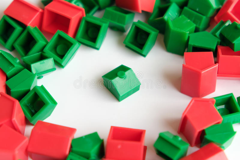 Miniature home / house - housing market concept stock image