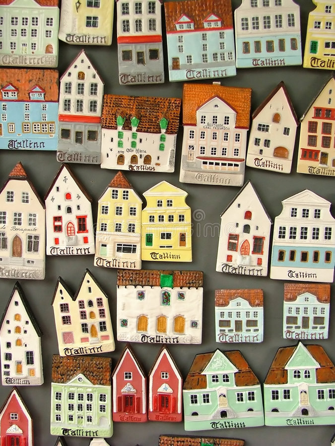 Miniature house icons royalty free stock images