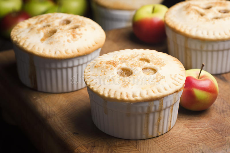 Miniature Individual Apple Pies stock images
