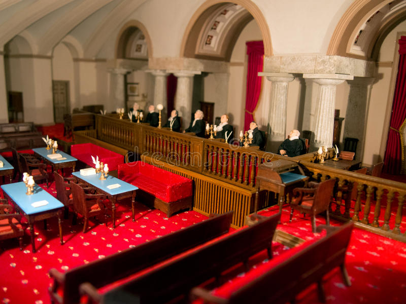 Miniature Model Courthouse stock photography