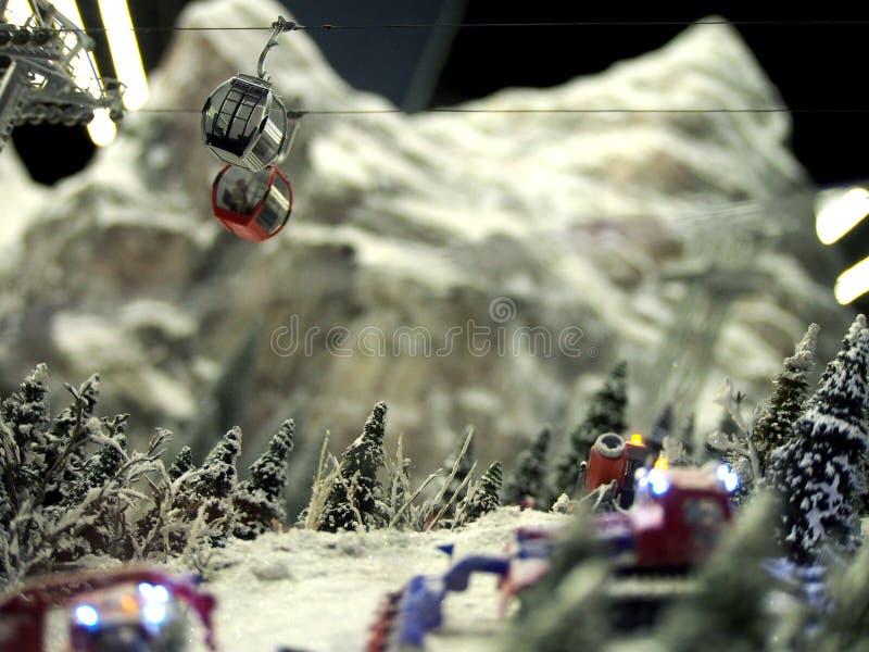 Miniature Model of Gondola at Ski Resort royalty free stock image