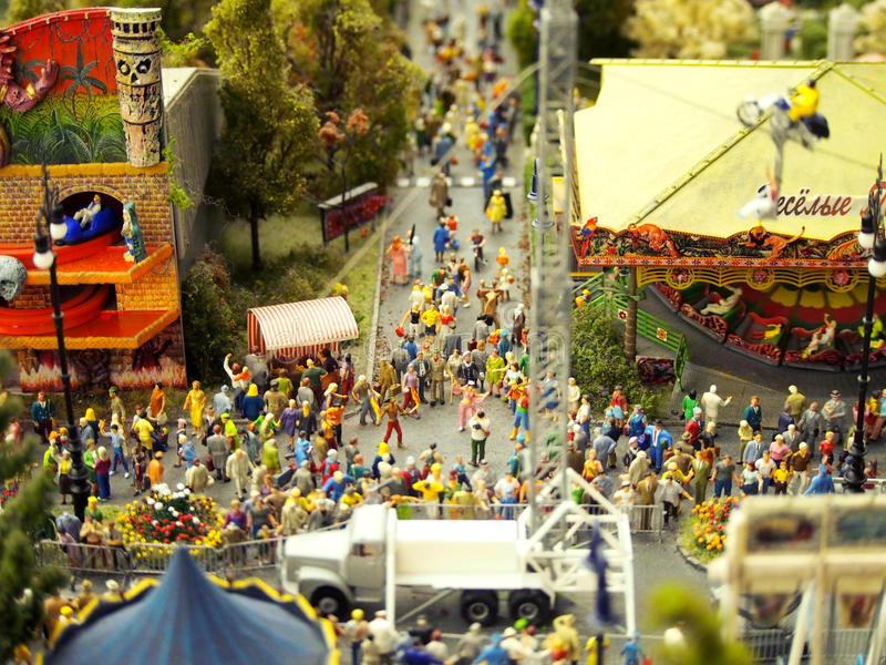 Miniature Model of a Street Fair or Carnival royalty free stock photos