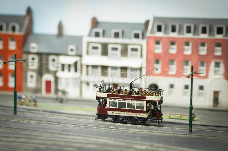 Miniature model tramway stock photos