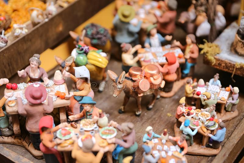 Miniature in Naples, Italy. Miniature of Daily Life in Naples, Italy stock image