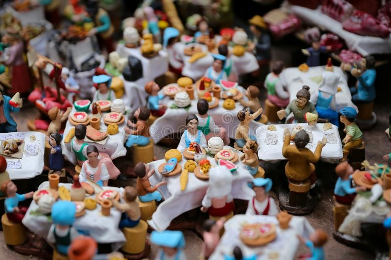 Miniature in Naples, Italy. Miniature of a Restaurant in Naples, Italy royalty free stock photography