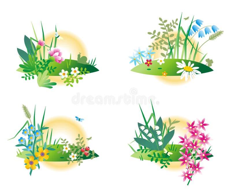 Miniature nature scenes royalty free illustration