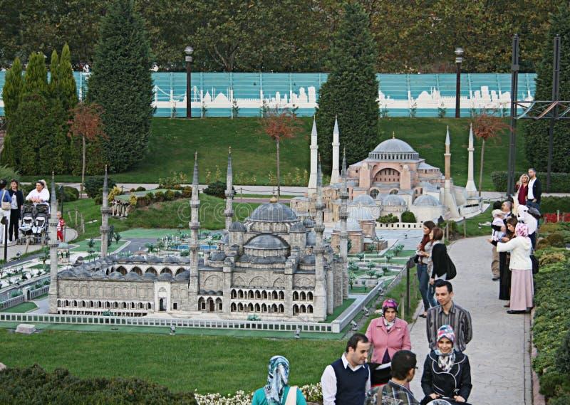 Miniature Park. (Miniaturk) in Istanbul,Turkey stock photo