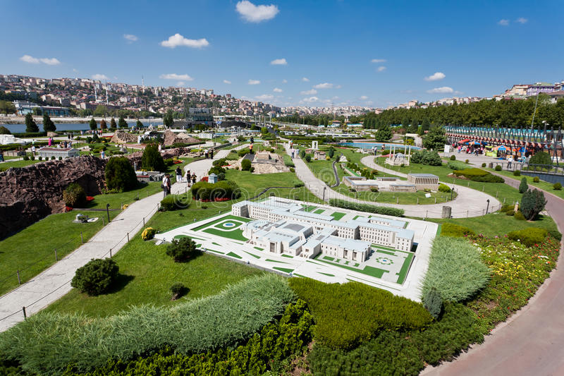 Miniature Park. (Miniaturk) in Istanbul,Turkey royalty free stock photos