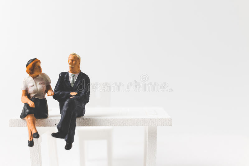 Miniature people business concept with a space for text stock images