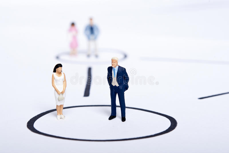Miniature people on team. Work royalty free stock photography
