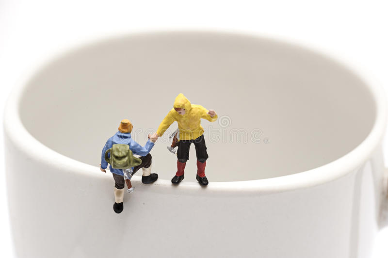 Miniature peoples recreation stock images