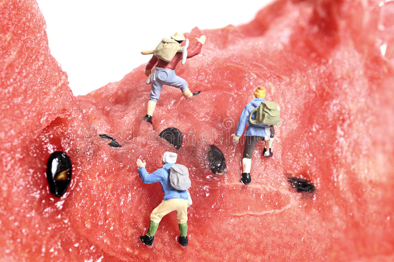 Miniature peoples recreation royalty free stock photography