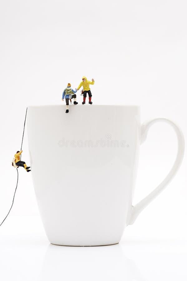 Miniature peoples recreation stock image