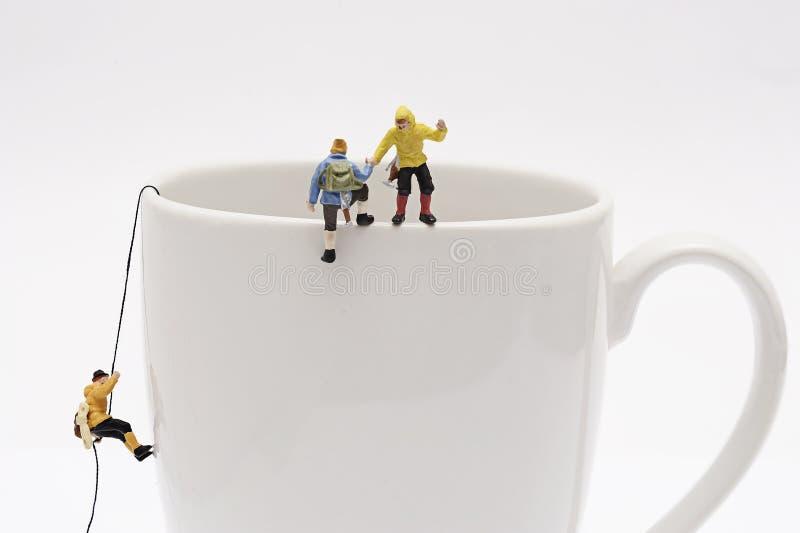 Miniature peoples recreation stock photos