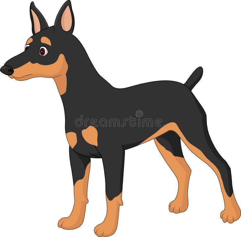 Miniature Pincher de chien de bande dessinée illustration stock