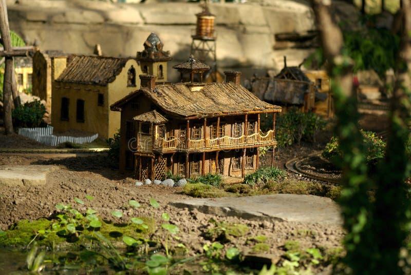 Miniature railway town royalty free stock image