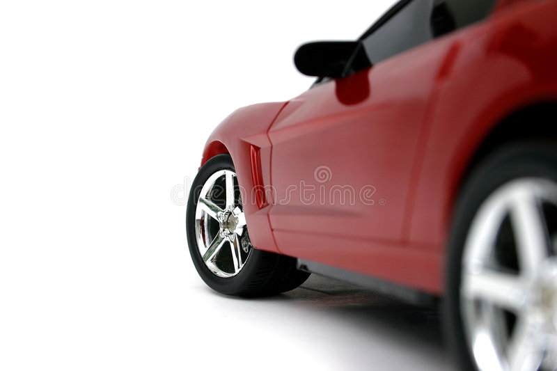 Miniature Red Corvette royalty free stock image