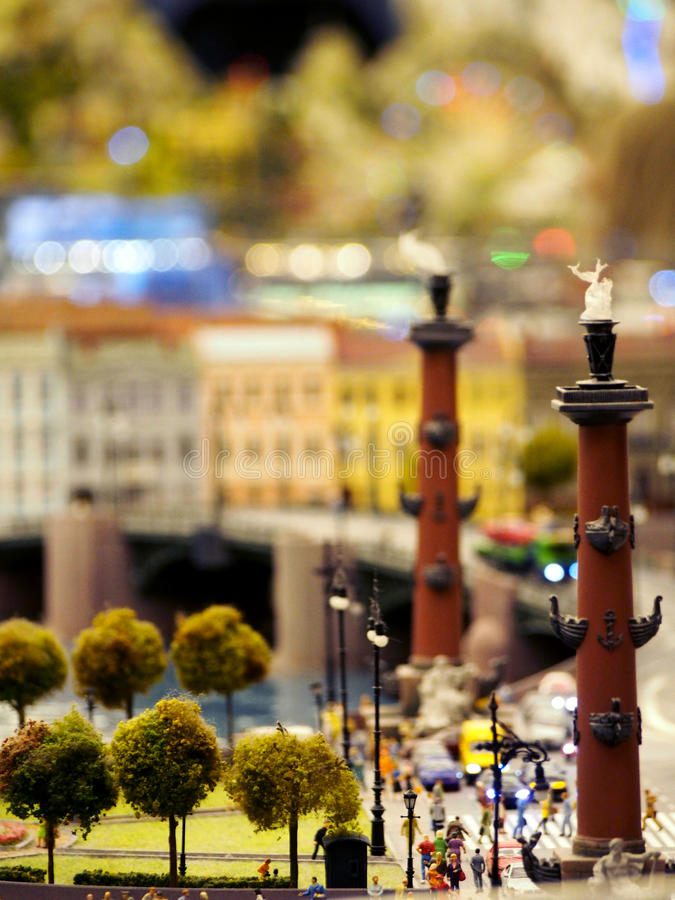 Miniature of Rostral Columns St Petersburg royalty free stock images