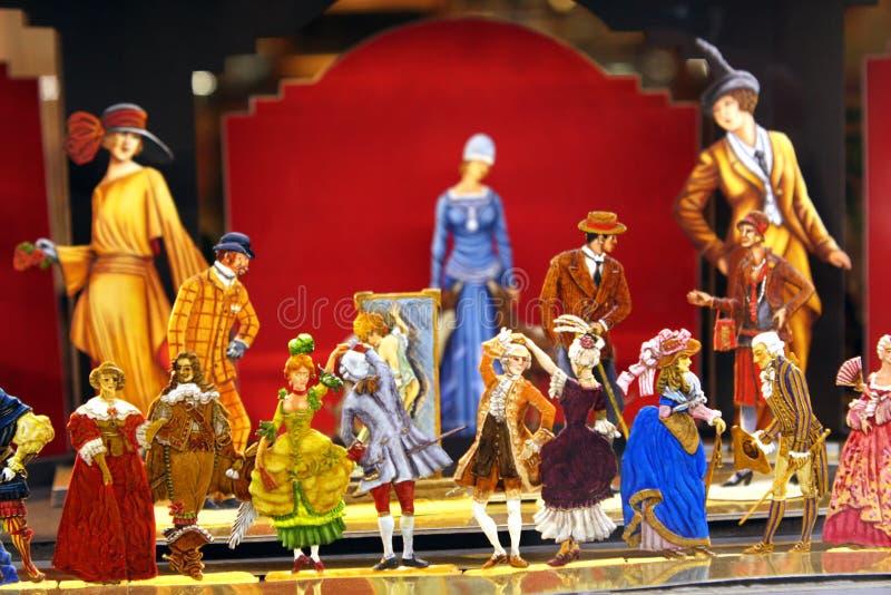 Miniature scene - Fashion. A miniature scene of fashion models stock photo