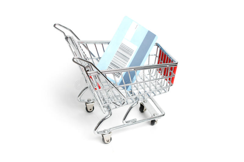 Download Miniature Shopping Trolley Stock Image - Image: 11125151