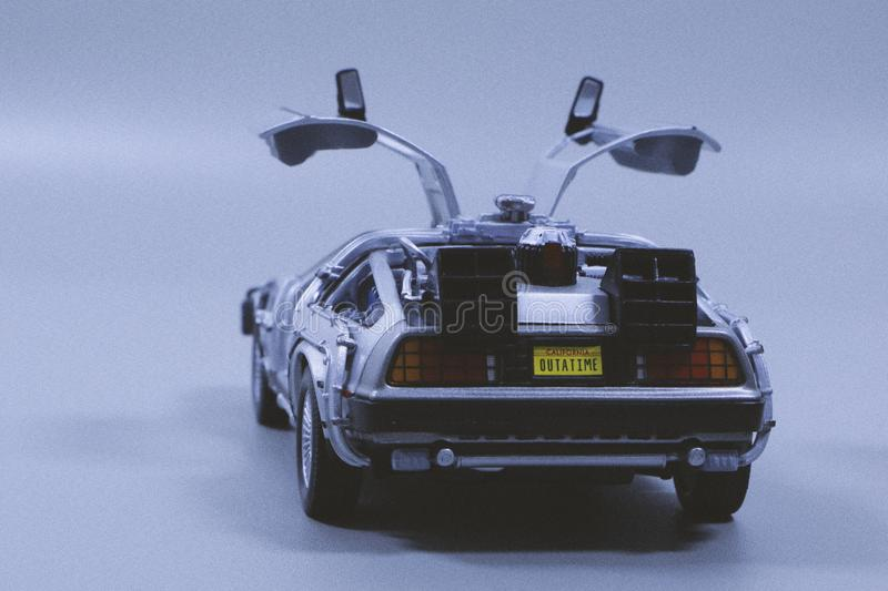 Miniature Silver Sports Car royalty free stock images