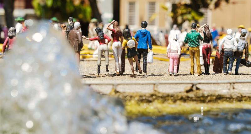 miniature streets of amsterdam royalty free stock photography