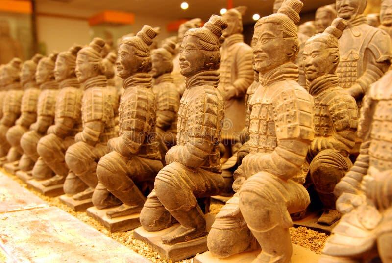 Miniature Terracotta Warriors royalty free stock photos