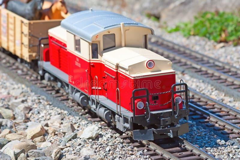 Miniature train model stock images