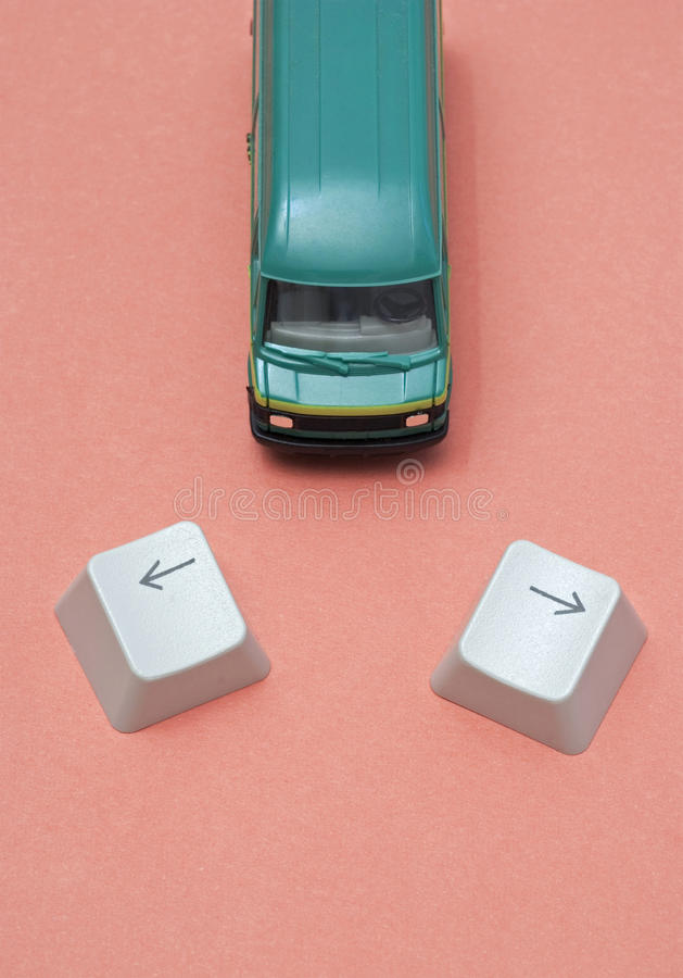 Download Miniature van stock photo. Image of road, choice, dilemma - 28252082