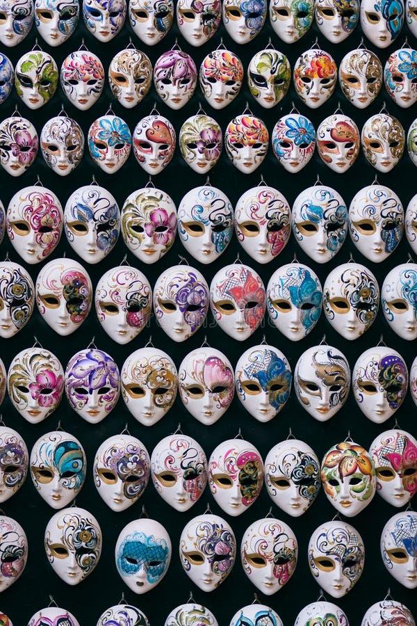 Miniature venetian carnival masks. Decorative miniature venetian carnival masks - Venice, Venezia, Italy, Europe royalty free stock photography