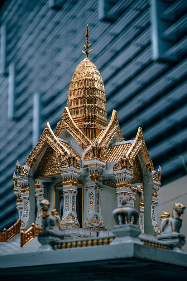 Miniature Of White And Gold Temple royalty free stock images